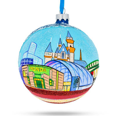 Anaheim, Maryland Glass Ball Christmas Ornament 4 Inches by BestPysanky