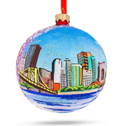Pittsburgh, Pennsylvania Glass Ball Christmas Ornament 4 Inches by BestPysanky