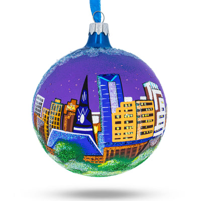 Lexington, Kentucky Glass Ball Christmas Ornament 4 Inches by BestPysanky