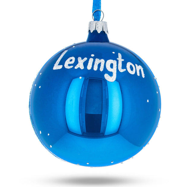Buy Online Gift Shop Lexington, Kentucky Glass Ball Christmas Ornament 4 Inches