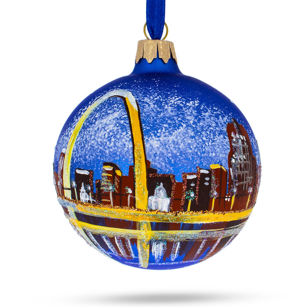 Gateway Arch, St. Louis, Missouri Glass Ball Christmas Ornament by BestPysanky