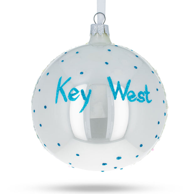 Buy Online Gift Shop Key West, Florida Glass Ball Christmas Ornament 4 Inches