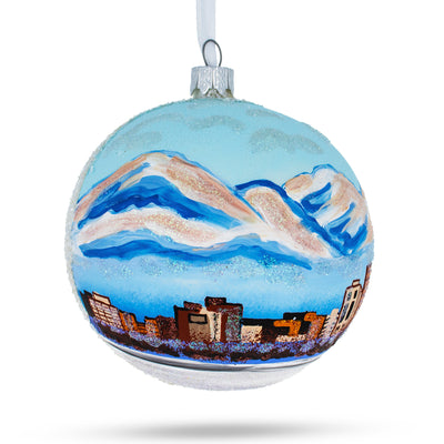 Anchorage, Alaska Glass Ball Christmas Ornament 4 Inches by BestPysanky
