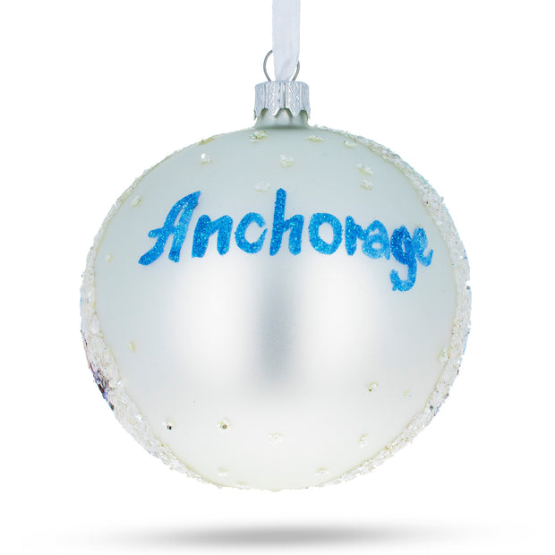 Buy Online Gift Shop Anchorage, Alaska Glass Ball Christmas Ornament 4 Inches