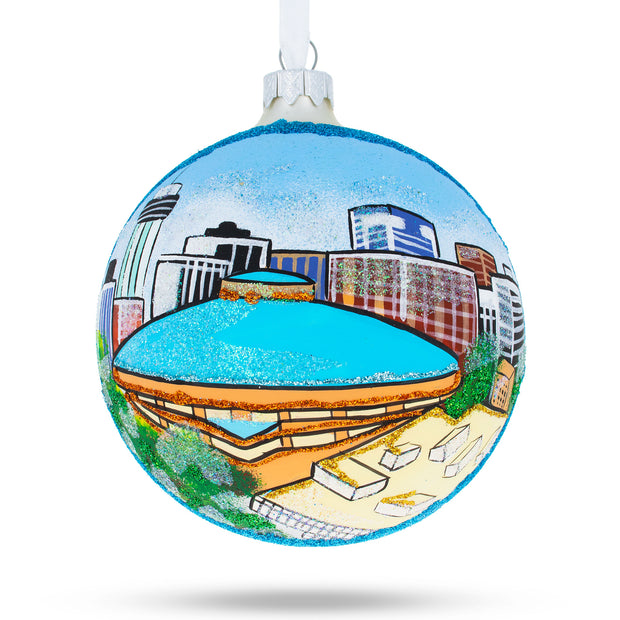 Wichita, Kansas Glass Ball Christmas Ornament 4 Inches by BestPysanky