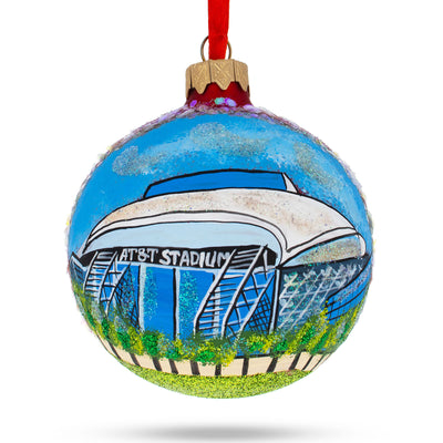 Arlington, Texas Glass Ball Christmas Ornament by BestPysanky