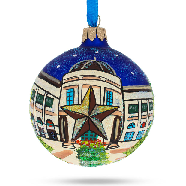 Austin, Texas Glass Ball Christmas Ornament by BestPysanky
