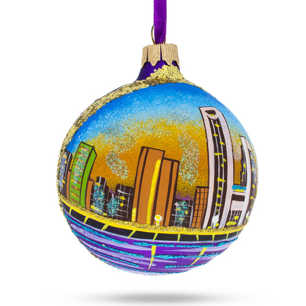 Corpus Christi, Texas Glass Ball Christmas Ornament by BestPysanky