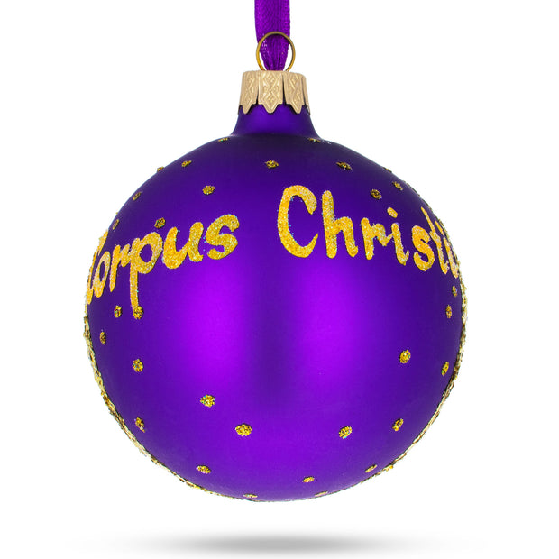 Corpus Christi, Texas Glass Ball Christmas Ornament