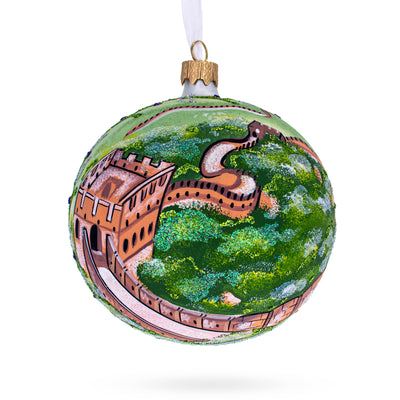 The Great Wall of China Glass Ball Christmas Ornament 4 Inches by BestPysanky
