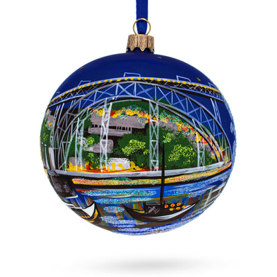Dom Luis I Bridge, Porto, Portugal Glass Ball Christmas Ornament 4 Inches by BestPysanky