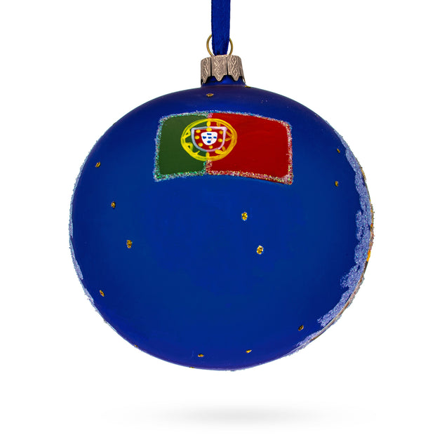 Buy Online Gift Shop Dom Luis I Bridge, Porto, Portugal Glass Ball Christmas Ornament 4 Inches