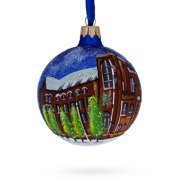 John Rylands Library, Manchester, England, United Kingdom Glass Ball Christmas Ornament 4 Inches by BestPysanky