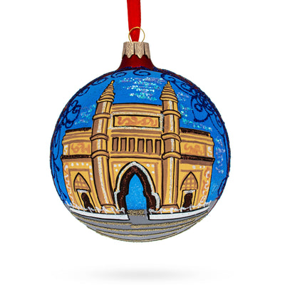 Gateway of India, Mumbai Glass Ball Christmas Ornament 4 Inches by BestPysanky
