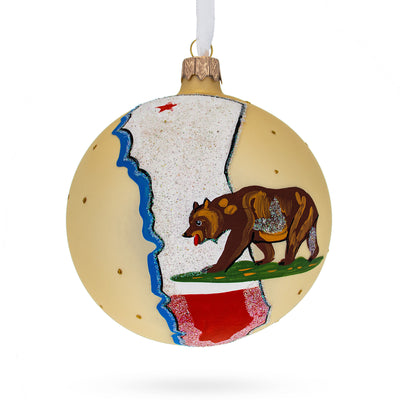 California State Glass Ball Christmas Ornament 4 Inches by BestPysanky