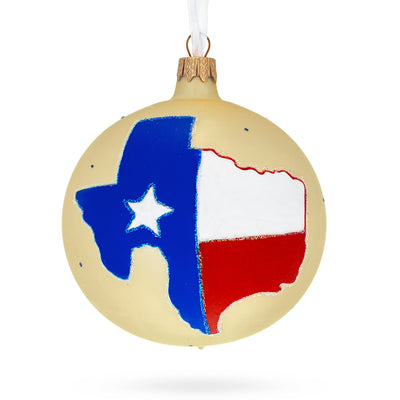 Texas State Glass Ball Christmas Ornament 4 Inches by BestPysanky