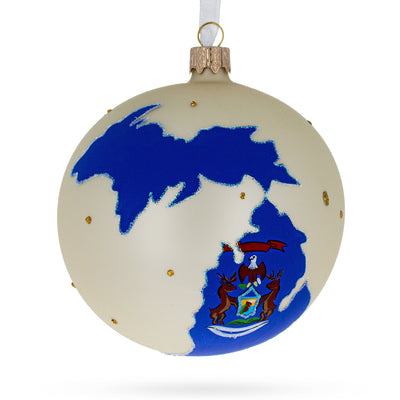 Michigan State Glass Ball Christmas Ornament 4 Inches by BestPysanky
