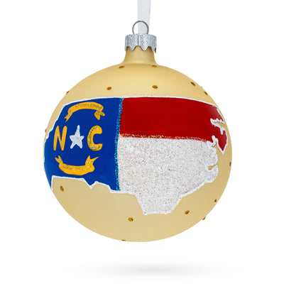 North Carolina State Glass Ball Christmas Ornament 4 Inches by BestPysanky