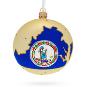 Virginia State Glass Ball Christmas Ornament 4 Inches by BestPysanky