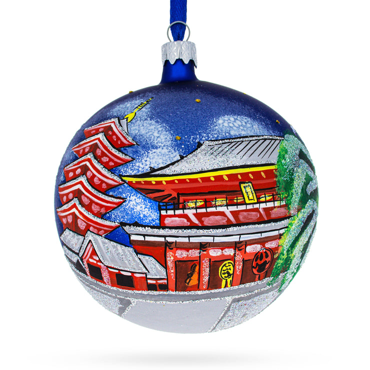 Asakusa, Tokyo, Japan Glass Ball Christmas Ornament 4 Inches by BestPysanky