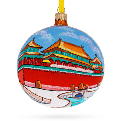 Forbidden City, Beijing, China Glass Ball Christmas Ornament 4 Inches by BestPysanky