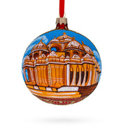 Swaminarayan Akshardham, New Delhi, India Glass Ball Christmas Ornament 4 Inches by BestPysanky