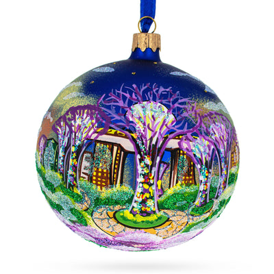 Botanic Gardens, Singapore Glass Ball Christmas Ornament 4 Inches by BestPysanky