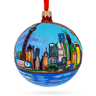 The Bund (Wai Tan), Shanghai, China Glass Ball Christmas Ornament 4 Inches by BestPysanky