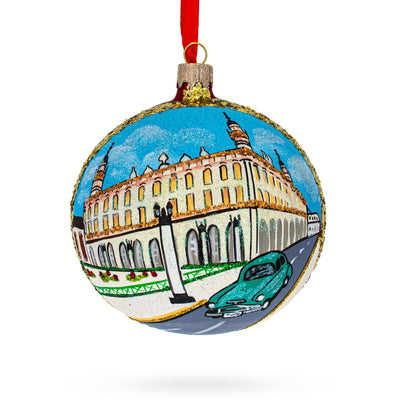 Old Havana, Havana, Cuba Glass Ball Christmas Ornament 4 Inches by BestPysanky