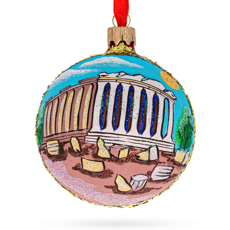 Acropolis, Athens, Greece Glass Ball Ornament by BestPysanky