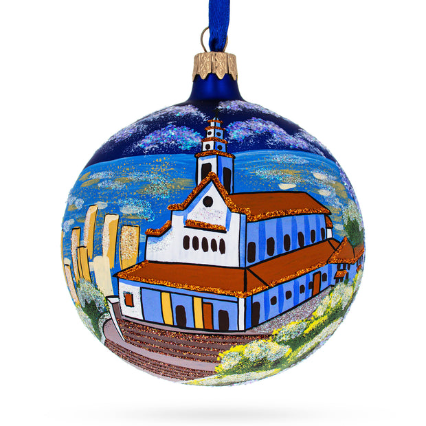 Mount Monserrate, Bogota, Colombia Glass Ball Christmas Ornament 4 Inches by BestPysanky