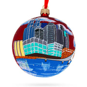 Puerto Madero, Buenos Aires, Argentina Glass Ball Christmas Ornament 4 Inches by BestPysanky