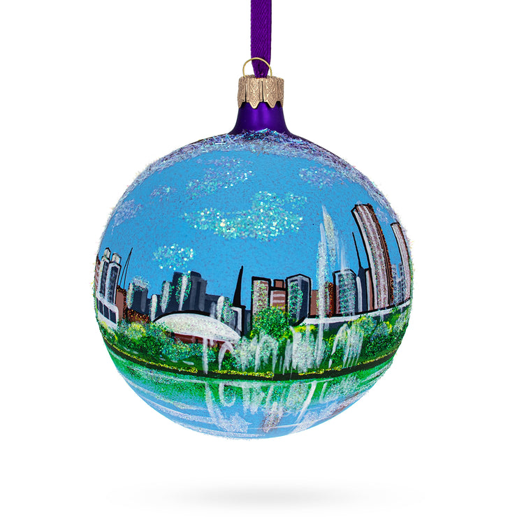Parque Ibirapuera, Sao Paulo,  Brazil Glass Ball Christmas Ornament 4 Inches by BestPysanky