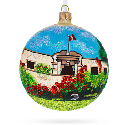 Museo Larco, Lima, Peru Glass Ball Christmas Ornament 4 Inches by BestPysanky