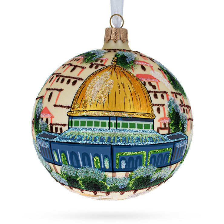 Western Wall, Temple Mount, Jerusalem, Israel Glass Ball Christmas Ornament 4 Inches by BestPysanky