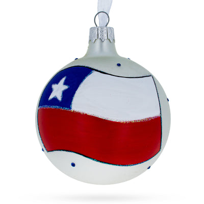Flag of Chile Glass Ball Christmas Ornament by BestPysanky