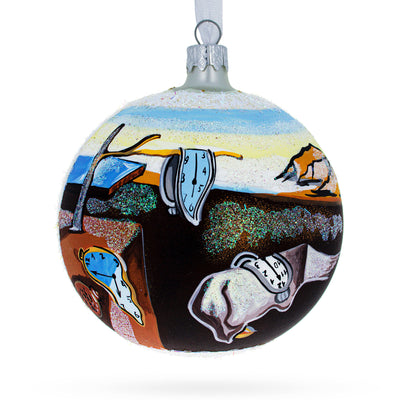"1931 ""The Persistence of Memory"" Painting by Salvador Dalí Glass Ball Christmas Ornament 4 Inches by BestPysanky"