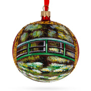 "1906 ""The Water Lily Pond"" aka ""Japanese Bridge"" Painting by Claude Oscar Monet Glass Ball Christmas Ornament by BestPysanky"