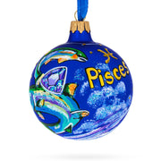 Pisces Astrological Zodiac Horoscope Sign Glass Ball Christmas Ornament by BestPysanky
