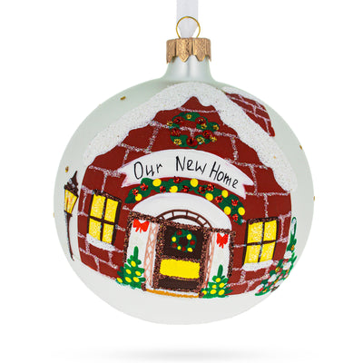 Our New Home Glass Ball Christmas Ornament 4 Inches by BestPysanky