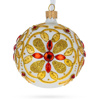Bejeweled Star Glass Ball Christmas Ornament by BestPysanky