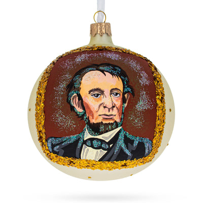 USA President Abraham Lincoln Glass Ball Christmas Ornament 4 Inches by BestPysanky