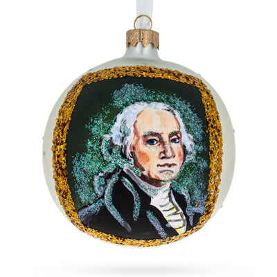 USA President George Washington Glass Ball Christmas Ornament 4 Inches by BestPysanky