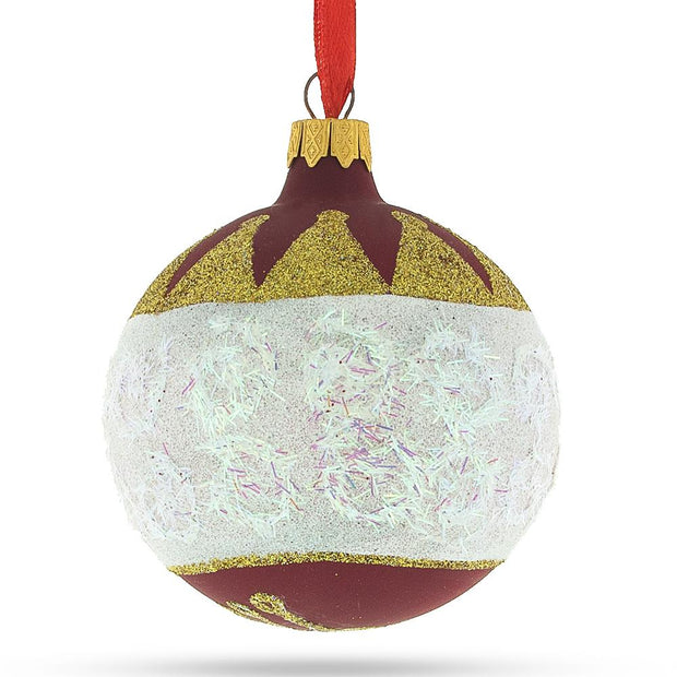 Nutcracker Face Glass Christmas Ornament 3.25 Inches