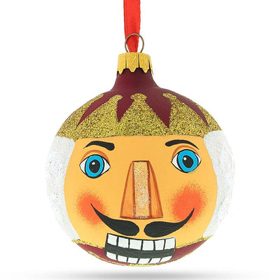 Nutcracker Face Glass Christmas Ornament 3.25 Inches by BestPysanky