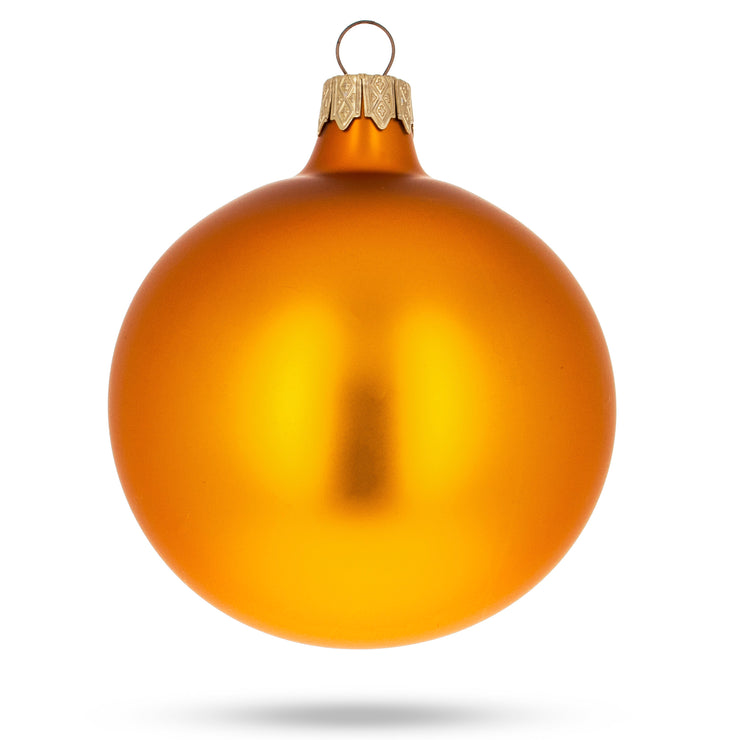 Buy Online Gift Shop Set of 6 Matte Gold Glass Ball Christmas Ornaments 3.25 Inches