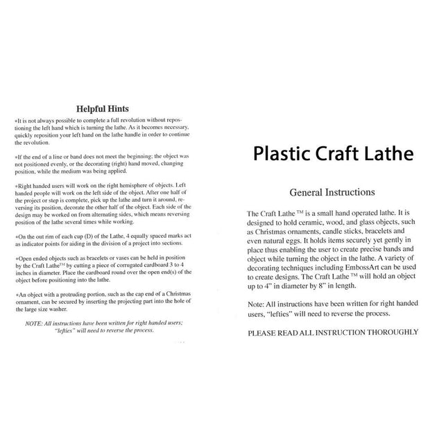 Plastic Craft Lathe