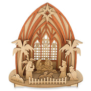 Buy Online Gift Shop Wooden Nativity Scene Set with LED Lights 11 Inches
