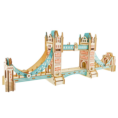 London Tower Bridge Model Kit - Wooden Laser-Cut 3D Puzzle (105 Pcs) by BestPysanky
