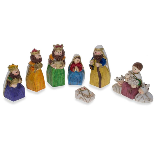 Set of 9 Hand Painted Nativity Scene Set Figurines by BestPysanky
